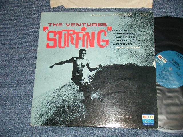 """画像1: """"SURFING"""" DARK BLUE with BLACK PRINT LABEL"""