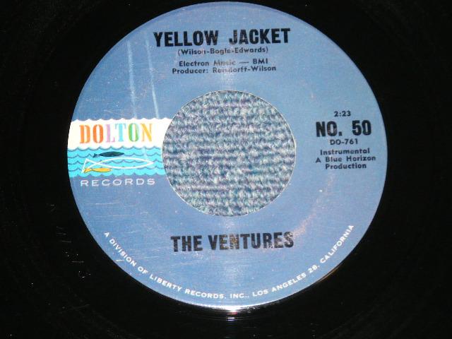 画像1: YELLOW JACKET / GENESIS  Blue With Black Print Label