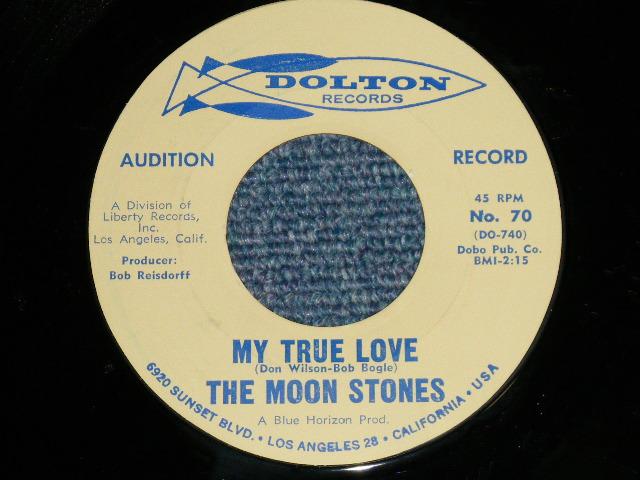 """画像1: THE MOON STONES ( BOB BOGLE & DON WILSON WORKS of THE VENTURES ) - MY TRUE LOVE / LOVE CALL 1963 US ORIGINAL Audition Label PROMO Blue Print 7""""45's Single"""