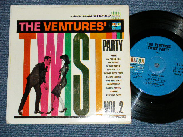 画像1: THE VENTURES' TWIST PARTY VOL.2  US BLUE with BLACK Print Label