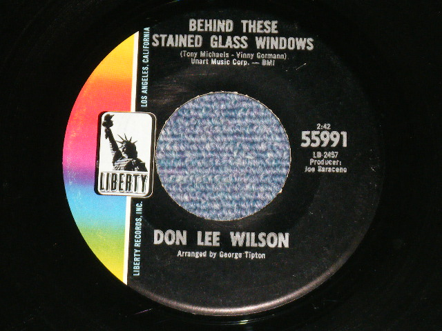 画像1: DON LEE WILSON -  BEHIND THESE STAINED GLASS WINDOWS/ KISS TOMORROW GOODBYE   :    1967  US ORIGINAL STOCK COPY 7 Single