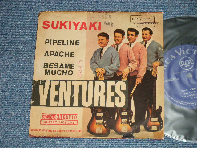 "画像1: SUKIYAKI  1963  BRAZIL  "" EP with PICTURE SLEEVE"