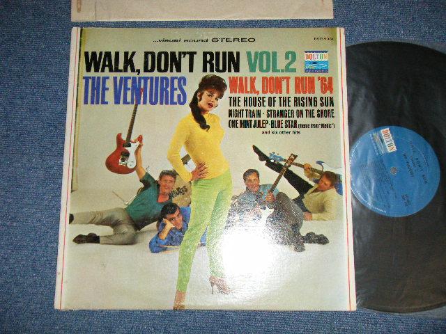 """画像1: WALK DON'T RUN VOL.2 : SWEAT SHIRT Version  1965 US AMERICA 2nd Press  """"BLUE with BLACK PRINT Label"""""""