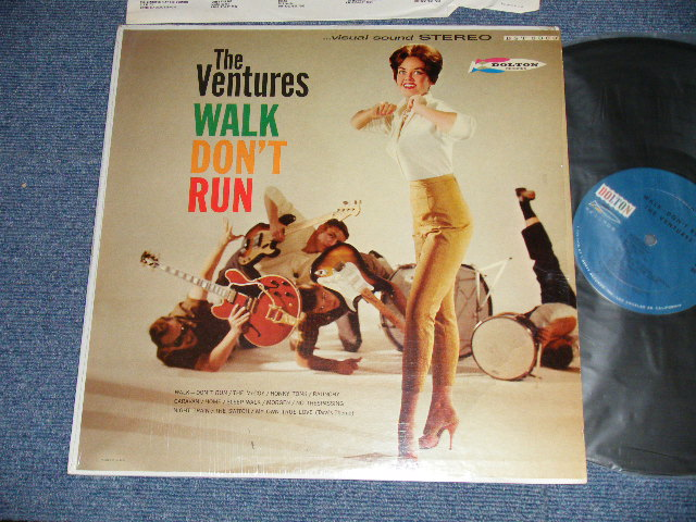 "画像1: WALK,DON'T RUN   1965? Version US AMERICA ORIGINAL 4th Press? ""BLUE with BLACK Print Label"" STEREO"
