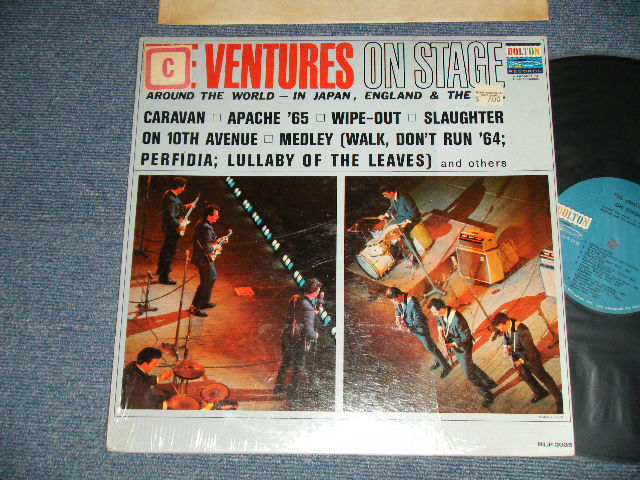 画像1: THE VENTURES ON STAGE   Blue with Black Print  Label