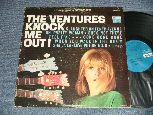 """画像1: KNOCK ME OUT( A-3 NO """"TOMORROW'S LOVE"""")     BLUE with BLACK PRINT  Label"""