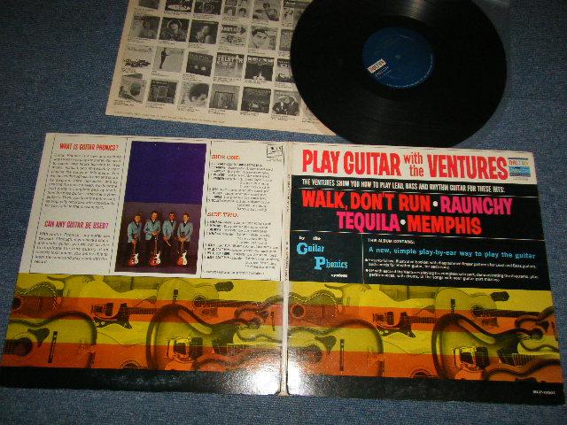 画像1: PLAY GUITAR WITH THE VENTURES  Dark Blue With Silver Print Label