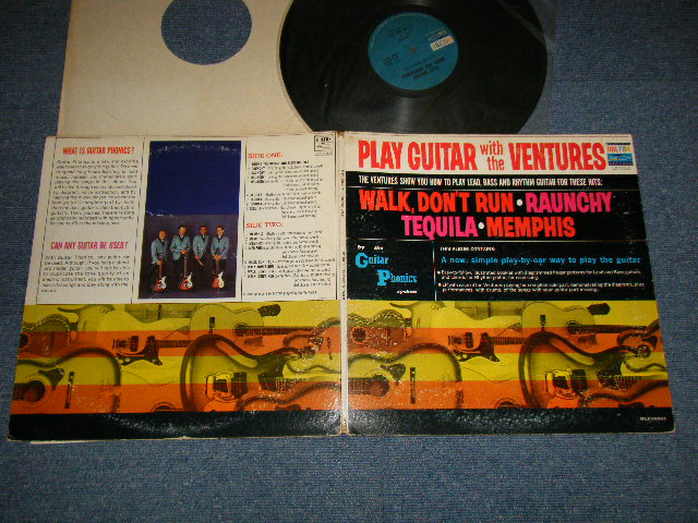 画像1: PLAY GUITAR WITH THE VENTURES Blue With Black Print Label (2nd Press Version)