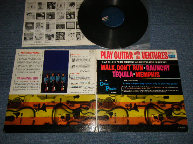 画像1: PLAY GUITAR WITH THE VENTURES  Dark Blue With Silver Print Label