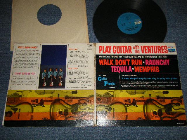 画像1: PLAY GUITAR WITH THE VENTURES Blue With Black Print Label (2nd Press Version)