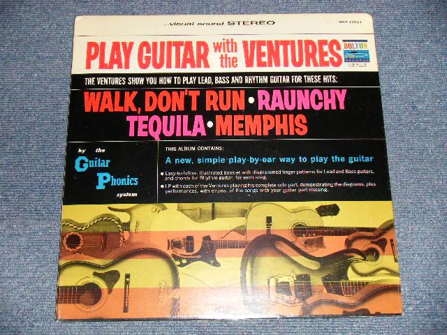 """画像1: PLAY GUITAR WITH THE VENTURES   """"D"""" Mark Label / SEALED Copy"""