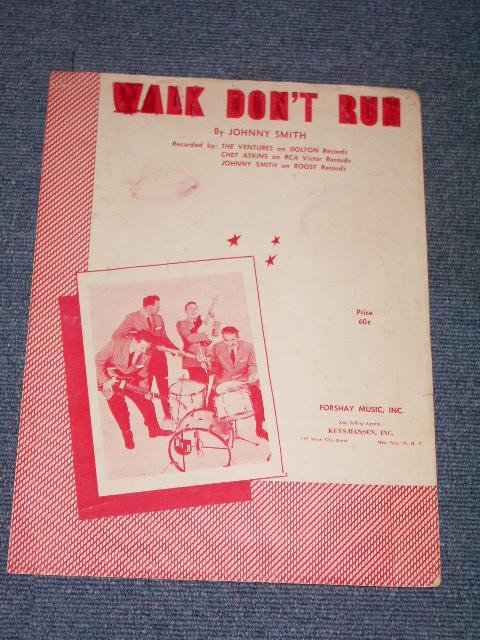 画像1: THE VENTURES - WALK DON'T RUN MUSIC SHEET / 1960 US ORIGINAL BOOK