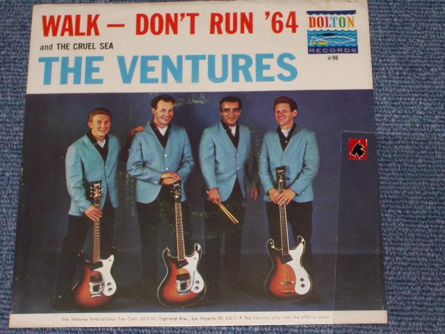 画像1:  WALK, DON'T RUN '64 / THE CRUEL SEA   With Picture Sleeve and  Dark Blue With Silver Print Label