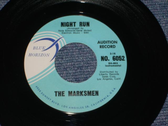 画像1: THE MARKSMEN - NIGHT RUN / SCRATCHE US ORIGINAL PROMO Single With BLACK PRINTING on TITLE