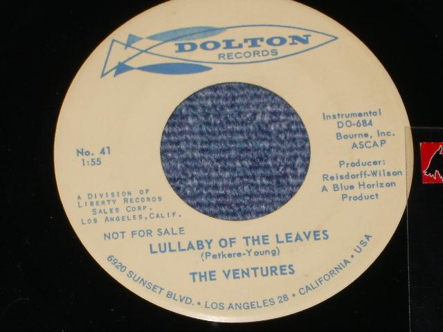 画像1:  LULLABY OF THE LEAVES / GINCHY   Promo / Audition Label