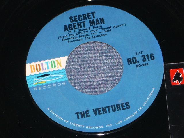 画像1: SECRET AGENT MAN / 007-11   Dark Blue With Black Print Label