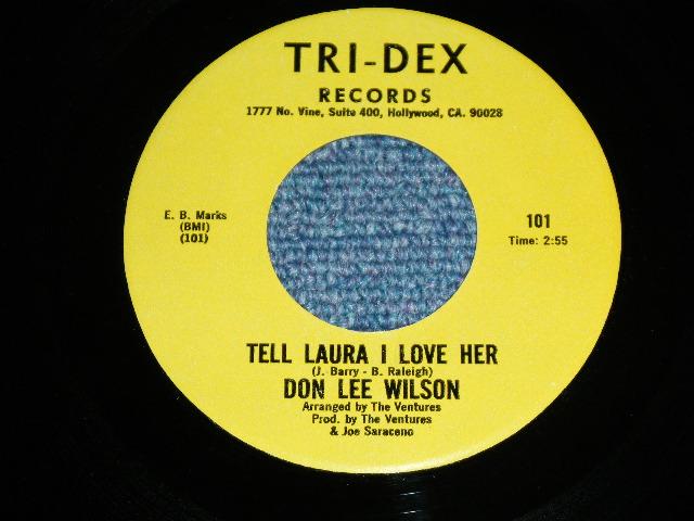 画像1: DON LEE WILSON -  TELL .LAULA I LOVE HER ( RE-RECORDINGS ) / BAD BOY      1981  US ORIGINAL 7 Single