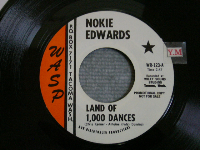 画像1: NOKIE EDWARDS - LAND OF 1,000 DANCES / MUDDY MISSISSIPPI LINE