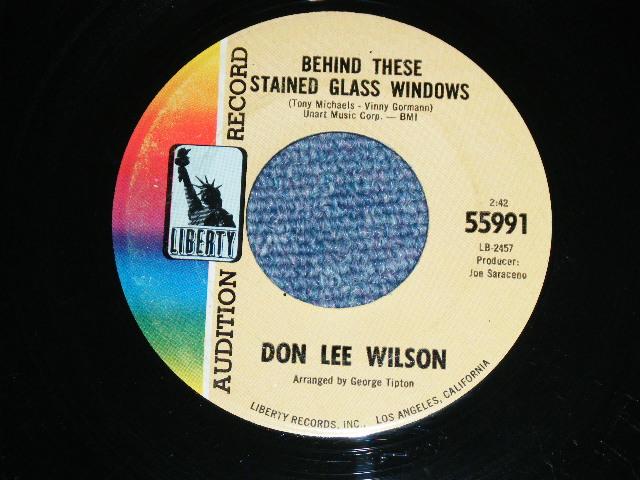 画像1: DON LEE WILSON -  BEHIND THESE STAINED GLASS WINDOWS ( FATS & LARGE  STYLE LOGO ) / KISS TOMORROW GOODBYE       1967  US ORIGINAL Audition Promo 7 Single