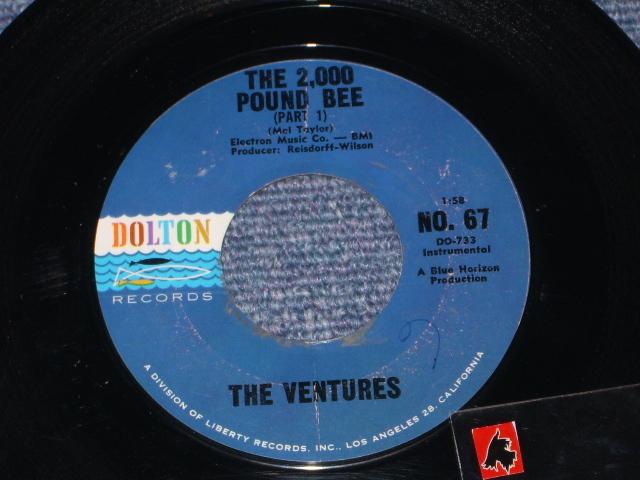画像1: THE 2,000 POUND BEE Pt.1 / THE 2,000 POUND BEE Pt.2  Dark Blue With Black Print Label