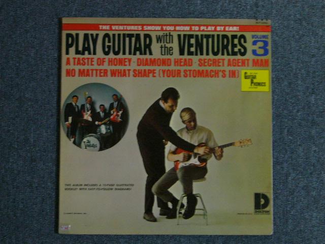 """画像1: PLAY GUITAR WITH THE VENTURES Volume 3 """"D"""" Mark Label"""