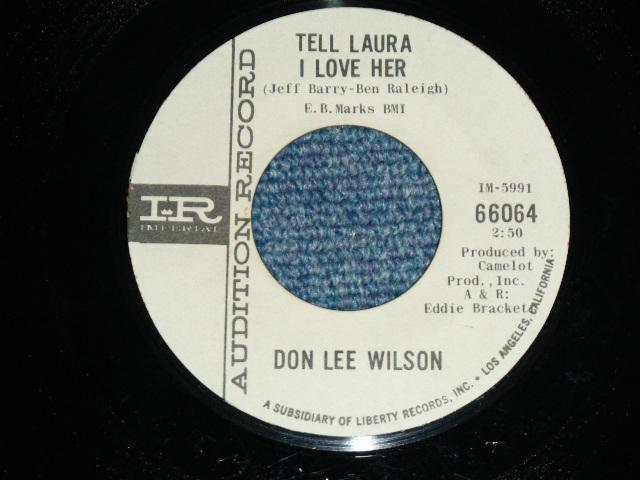 画像1: DON LEE WILSON -  TELL .LAULA I LOVE HER ( THIN LOGO STYLE ) / ANGEL      1964  US ORIGINAL White Label Promo 7 Single