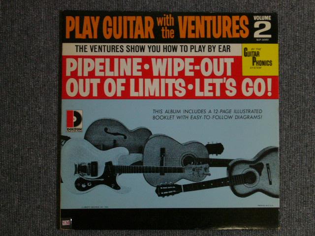 画像1: PLAY GUITAR WITH THE VENTURES Volume 2 Dark Blue With/Silver Print Label