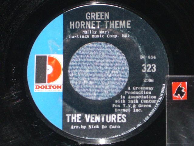 """画像1: GREEN HORNET THEME / FUZZY AND WILD   """"D""""mark on LEFT Label"""