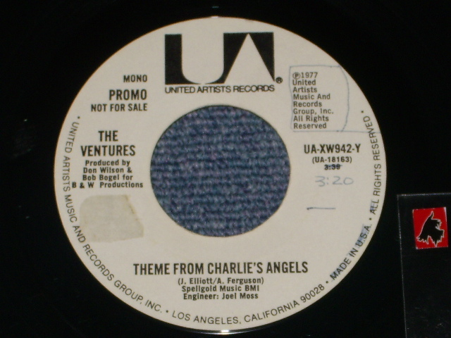 画像1: THEME FROM CHARLIE'S ANGEL / THEME FROM CHARLIE'S ANGEL  Promo Only Same Flip Mono/Stereo & YELLOW/WHITE VERSION Label