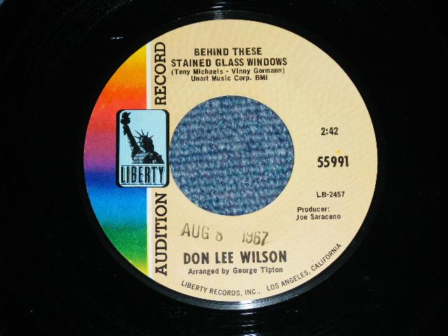 画像1: DON LEE WILSON -  BEHIND THESE STAINED GLASS WINDOWS ( SMALL  STYLE LOGO ) / KISS TOMORROW GOODBYE       1967  US ORIGINAL Audition Promo 7 Single