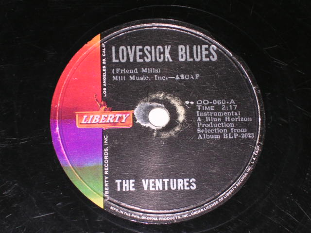 画像1: LOVESICK BLUES / BORN TO LOSE    - PHILLIPPINESORIGINAL 78rpm SP
