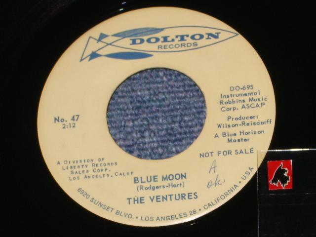 画像1: BLUE MOON / LADY OF SPAIN   Promo Audition Label  With SMALL LOGO