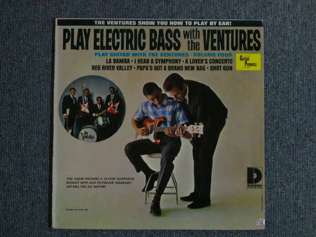 "画像1: PLAY ELECTRIC BASS WITH THE VENTURES Volume 4 ""D"" Mark Label"
