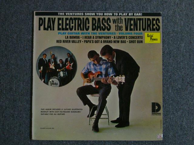 """画像1: PLAY ELECTRIC BASS WITH THE VENTURES Volume 4 """"D"""" Mark Label"""