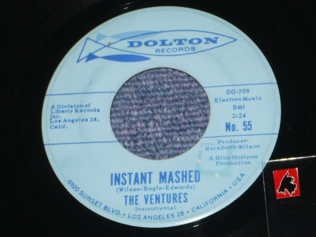 画像1:  INSTANT MASHED / MY BONNIE LIES   Light Blue Label  With HORIZON LINE
