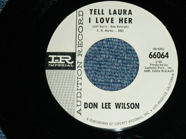 画像1: DON LEE WILSON -  TELL .LAULA I LOVE HER ( FATS LOGO STYLE ) / ANGEL      1964  US ORIGINAL White Label Promo 7 Single