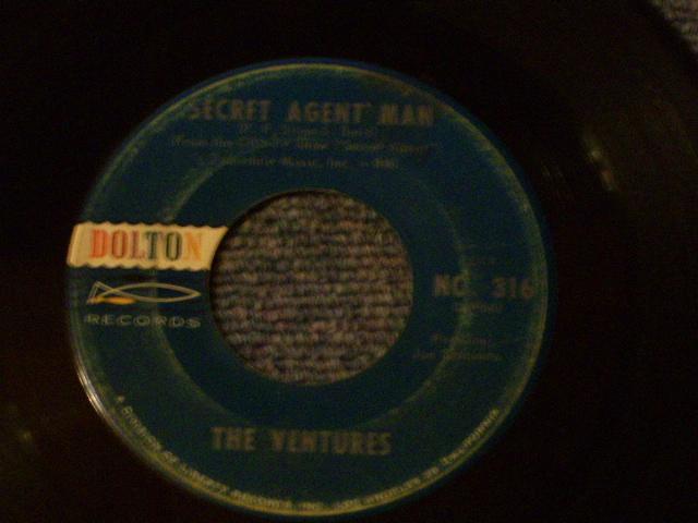 画像1: SECRET AGENT MAN / 007-11   Dark Blue With Silver Print Label