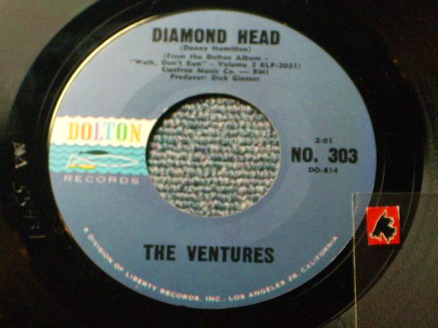 画像1: DIAMOND HEAD / LONELY GIRL   Blue With Black Print Label