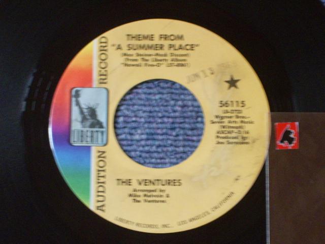 画像1: 56115 THEME FROM A SUMMER PLACE / A SUMMER LOVE  Promo Audition Label