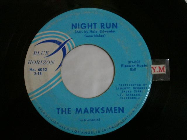 画像1: THE MARKSMEN - NIGHT RUN / SCRATCHE US ORIGINAL  Single With BLUE PRINTING on TITLE