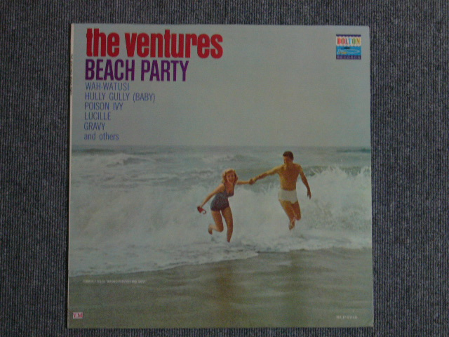 画像1: BEACH PARTY DARK BLUE W/SILVER PRINT LABEL