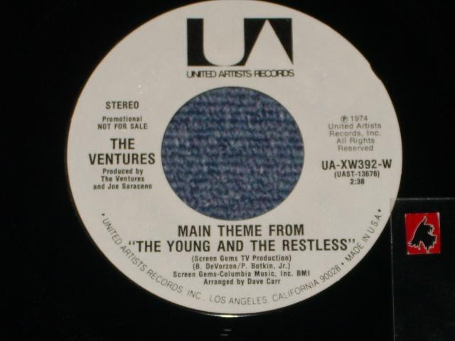 """画像1:  MAIN THEME FROM """"THE YOUNG AND THE RESTLESS"""" Promo Only Same Flip WHITE Label Version"""
