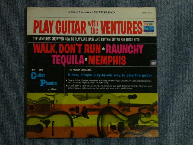 """画像1: PLAY GUITAR WITH THE VENTURES """"D"""" Mark Label"""