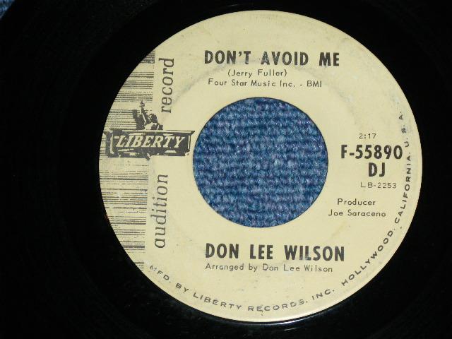 画像1: DON LEE WILSON -  DON'T AVOID ME ( OLD STYLE LOGO ) / SALLY      1966  US ORIGINAL Audition Promo 7 Single