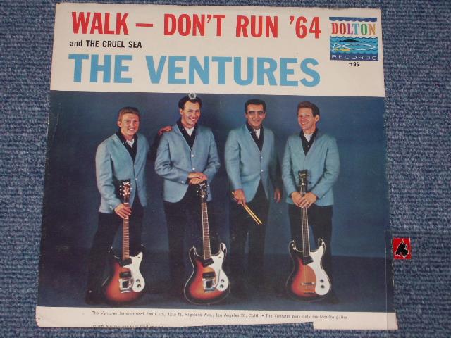 画像1:  WALK, DON'T RUN '64 / THE CRUEL SEA   With Picture Sleeve and  Dark Blue With Black Print Label