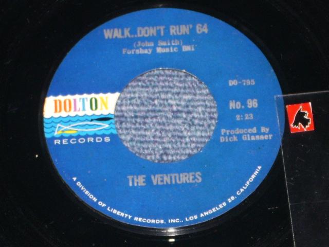 画像1:  WALK, DON'T RUN '64 / THE CRUEL SEA    Dark Blue With Silver Print Label