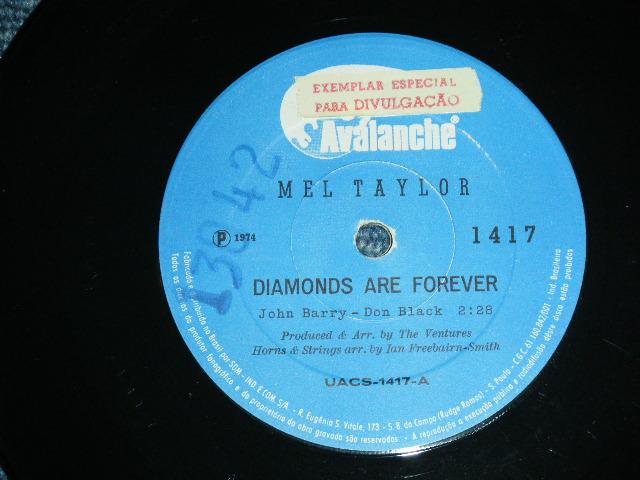 """画像1: MEL TAYLOR - DIAMOND ARE FOREVER  / BONDLERO    BRAZIL  ORIGINAL 7"""" SINGLE"""