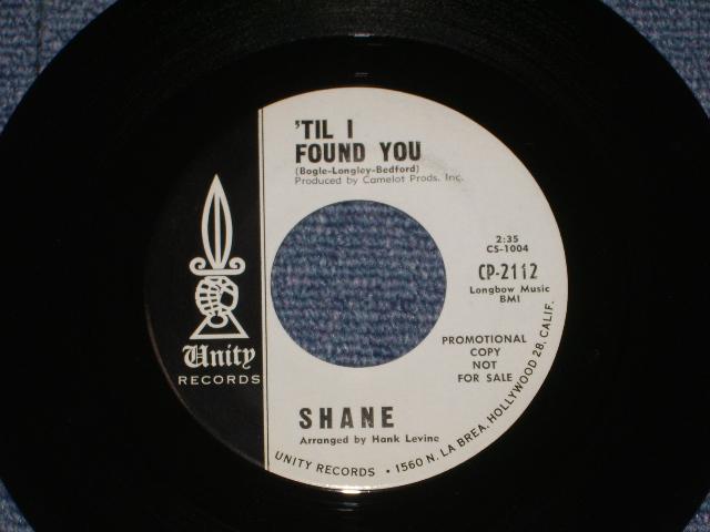 画像1:  SHANE ( BOB BOGLE of THE VENTURES ) -'TIL I FOUND YOU /  ON A NIGHT LIKE THIS 1964?  US ORIGINAL WHITE LABEL PROMO