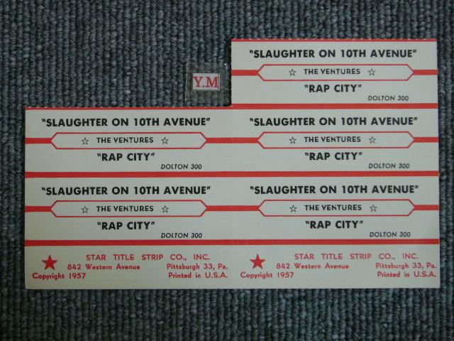 画像1: SLAUGHTER ON TENTH AVENUE / RAP CITY JUKEBOX STRIPE