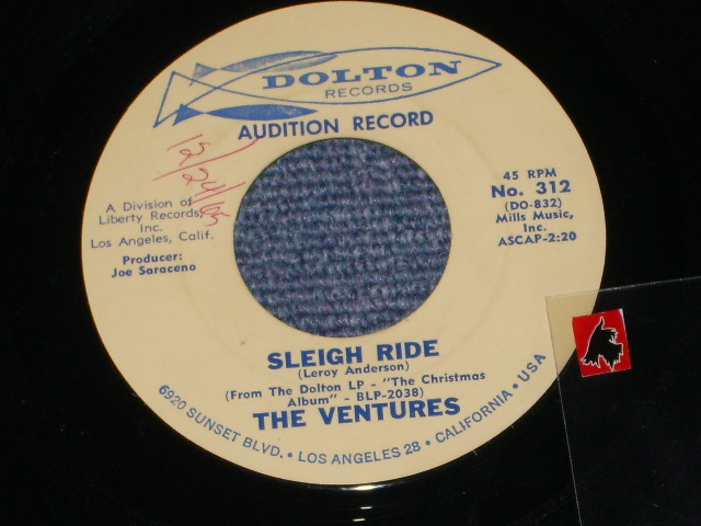 画像1: SLEIGH RIDE / SNOW FLAKES     Audition Label